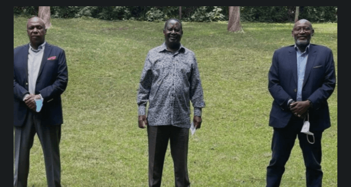 RAILA ODINGA AND GIDEON MOI IN PRIVATE DISCUSSIONS UHURU'S BROTHER